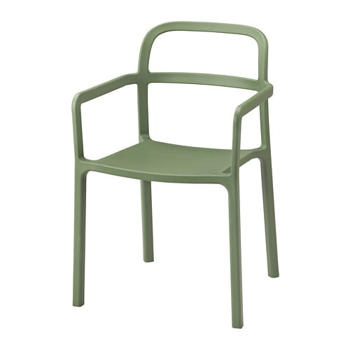 伊波利 餐椅带扶手,室内/户外, 绿色