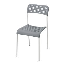 ADDE chair, grey, white