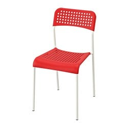 ADDE chair, red, white