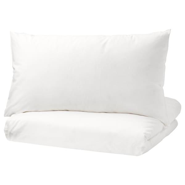 ÄNGSLILJA Quilt cover and 2 pillowcases, white, 200x230/50x80 cm