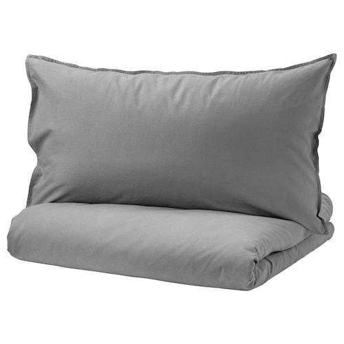 ÄNGSLILJA quilt cover and pillowcase grey 125 /inch² 1 pack 200 cm 150 cm 50 cm 80 cm