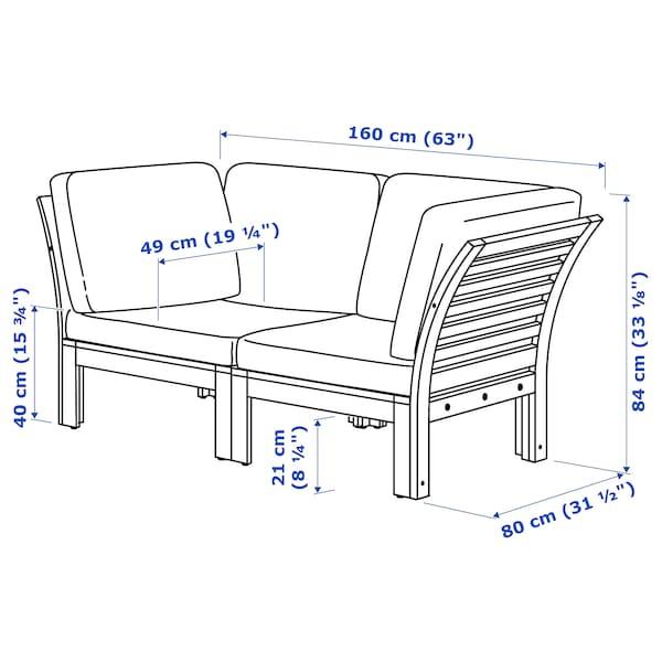 IKEA ÄPPLARÖ 2-seat modular sofa, outdoor