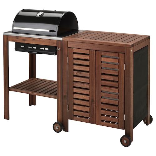 IKEA ÄPPLARÖ / KLASEN Charcoal barbecue with cabinet
