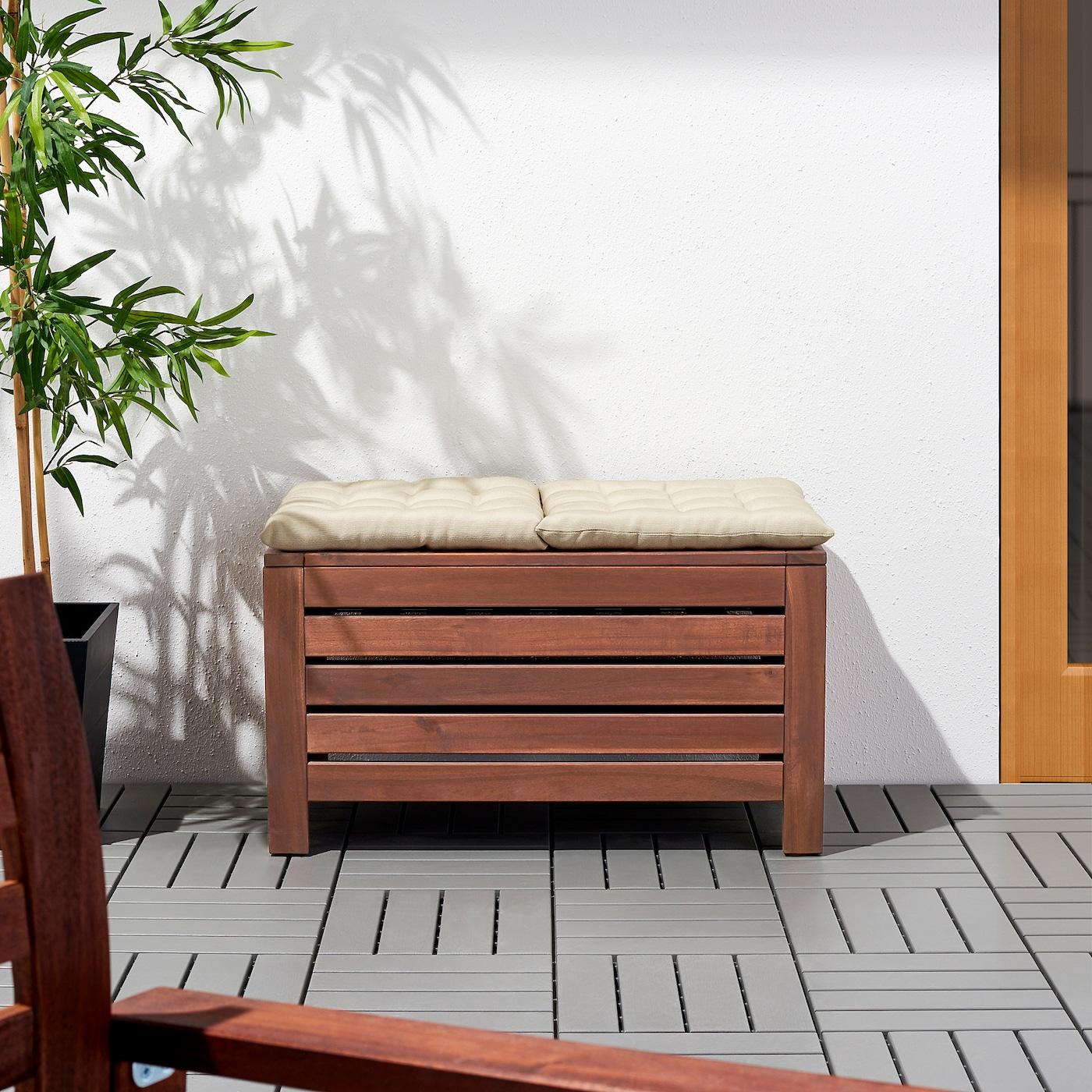 Applaro Storage Bench Outdoor Brown Stained Ikea