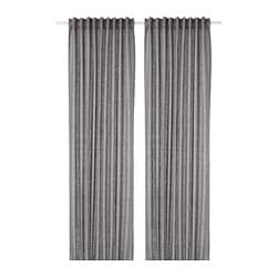 AINA curtains, 1 pair, dark grey