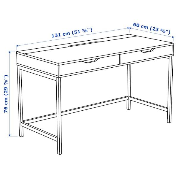 ALEX desk blue 131 cm 60 cm 76 cm 62 cm
