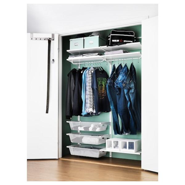 ALGOT wall upright/shelves/rod white 132 cm 41 cm 199 cm