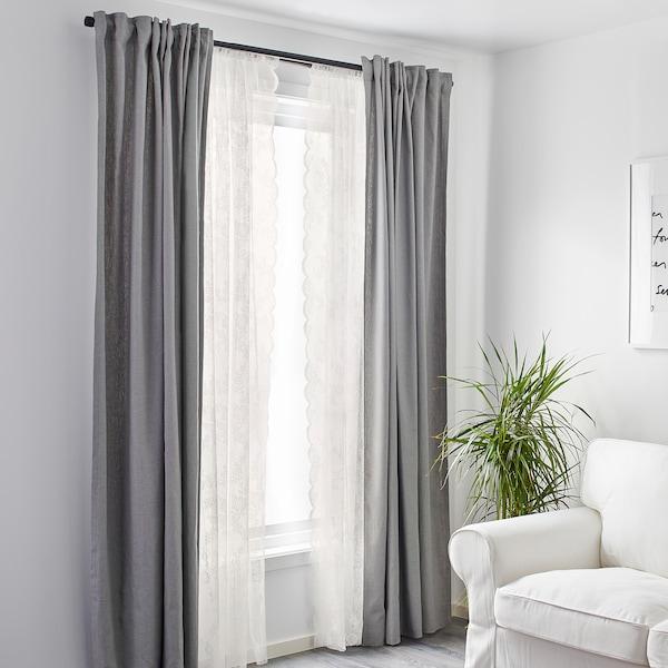 ALVINE SPETS net curtains, 1 pair off-white 250 cm 145 cm 0.50 kg 3.63 m² 2 pack