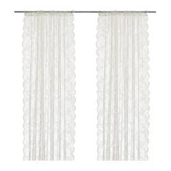 ALVINE SPETS net curtains, 1 pair, off-white