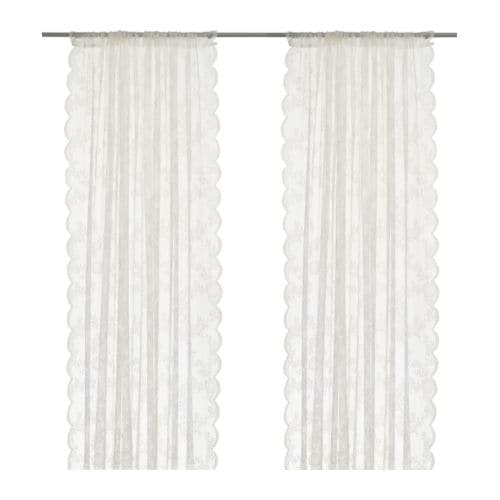 ALVINE SPETS Sheer curtains, 1 pair IKEA