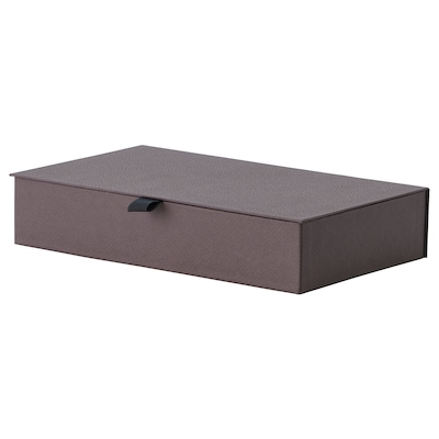 ANILINARE Jewellery box with compartments, dark brown, 30x18x6 cm