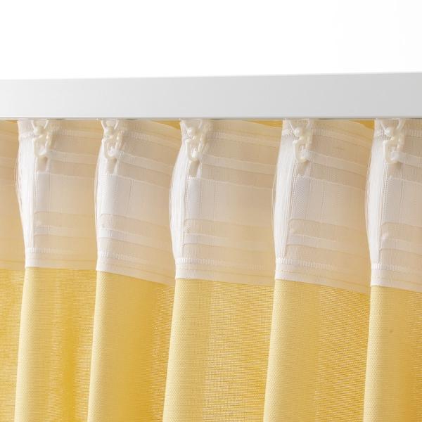 ANNALOUISA curtains, 1 pair light yellow 250 cm 145 cm 1.60 kg 3.63 m² 2 pack