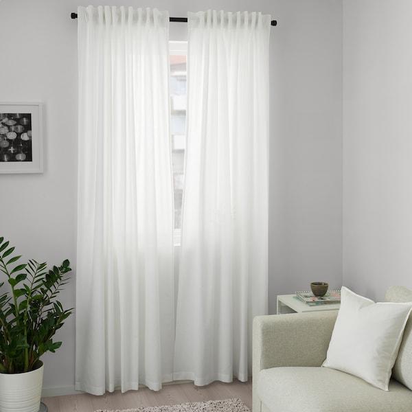 ANNALOUISA curtains, 1 pair white 300 cm 145 cm 1.80 kg 4.63 m² 2 pack
