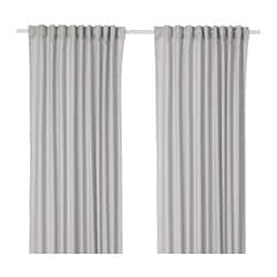 ANNALOUISA curtains, 1 pair, light grey