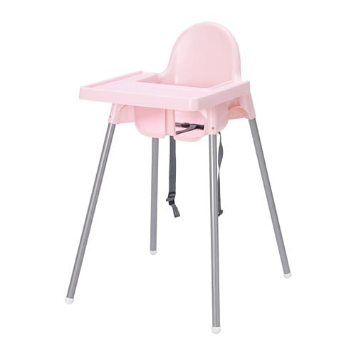Fabulous Antilop Highchair With Tray Pink Silver Colour Short Links Chair Design For Home Short Linksinfo
