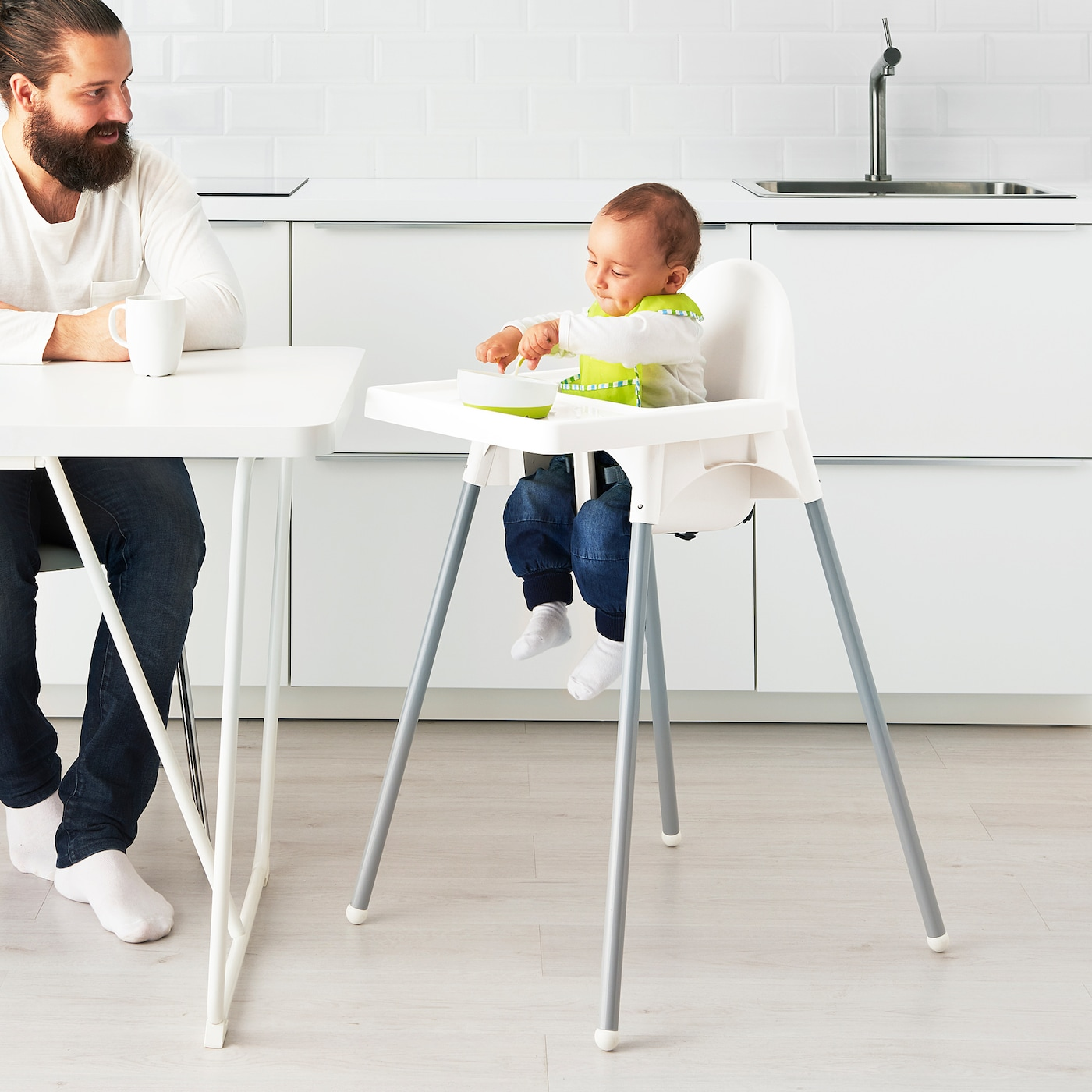 Antilop Highchair With Tray White