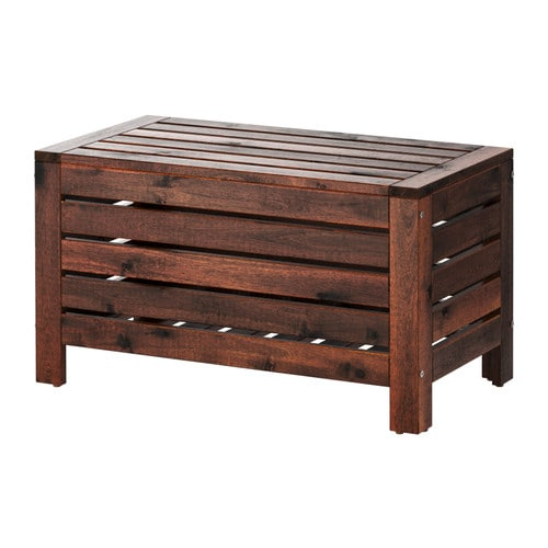 ÄPPLARÖ Storage bench IKEA Perfect for storing gardening tools and plant pots.