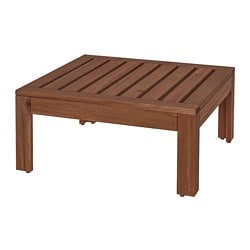 ÄPPLARÖ table/stool section, outdoor, brown stained brown