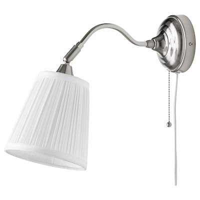 ÅRSTID Wall lamp, nickel-plated/white