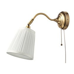 ÅRSTID wall lamp, brass, white