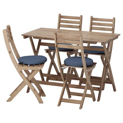 IKEA ASKHOLMEN Table+4 folding chairs, outdoor