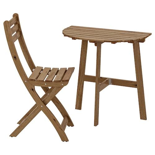 IKEA ASKHOLMEN Table for wall+1 fold chr, outdoor