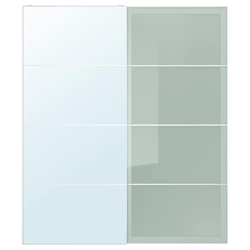 AULI / SEKKEN pair of sliding doors mirror glass/frosted glass 200.0 cm 236.0 cm 8.0 cm 2.3 cm