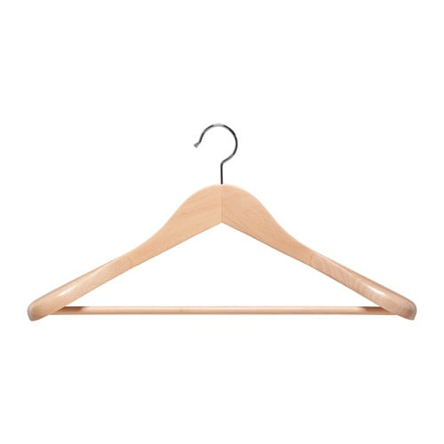 Baskis curved clothes hanger ikea for Ikea clothes hangers
