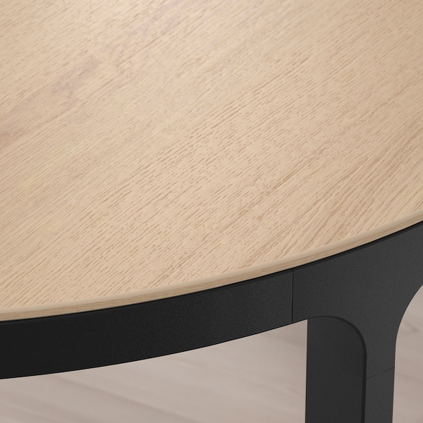 BEKANT conference table white stained oak veneer/black 140 cm 70 cm 73 cm 100 kg