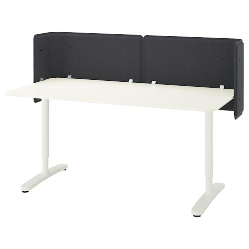 BEKANT reception desk white 55 cm 160 cm 80 cm 65 cm 85 cm 100 kg