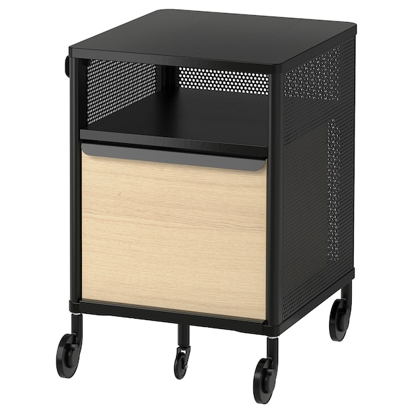 BEKANT storage unit with smart lock mesh black 41 cm 45 cm 61 cm