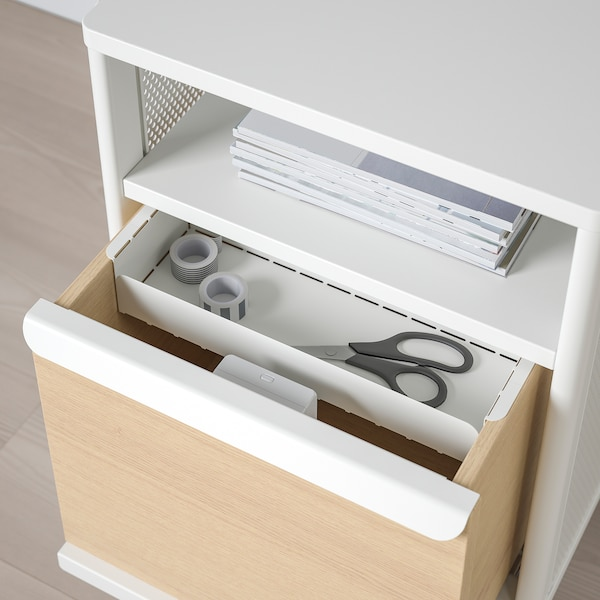 BEKANT storage unit with smart lock mesh white 41 cm 45 cm 61 cm
