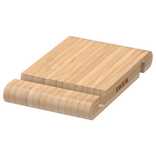 BERGENES holder for mobile phone/tablet bamboo 13 cm 8 cm