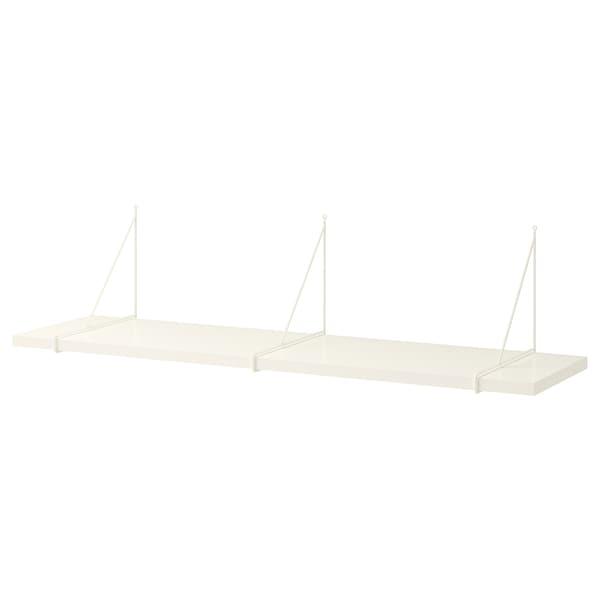 BERGSHULT / PERSHULT wall shelf white/white 120 cm 30 cm 2.5 cm 10 kg