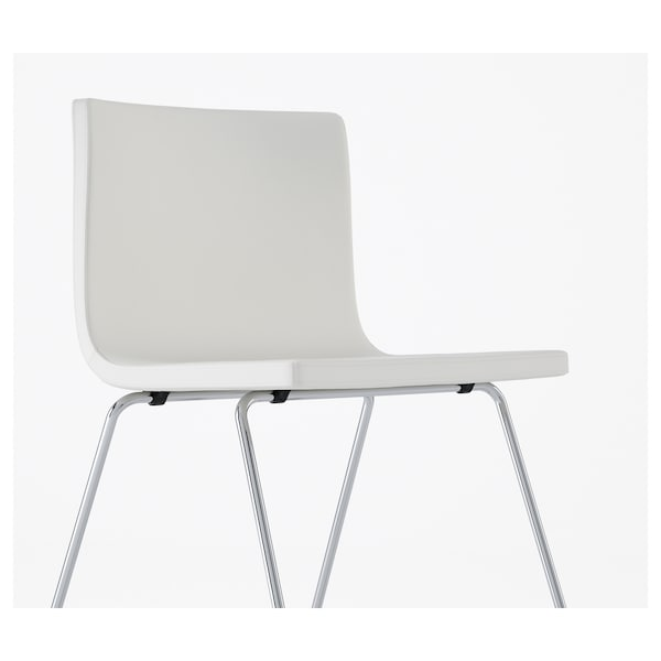 BERNHARD Chair, chrome-plated/Mjuk white