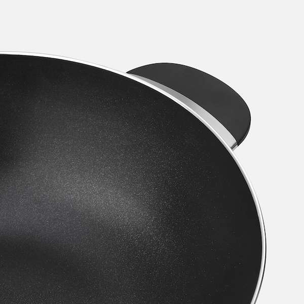BESINNING Wok with lid, non-stick coating, 32 cm