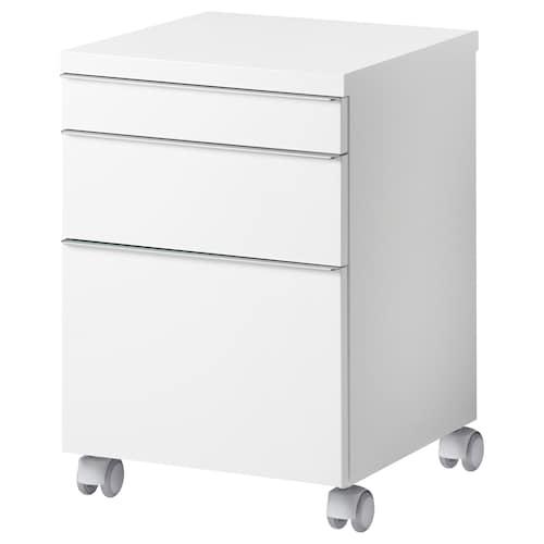 BESTÅ BURS drawer unit on castors high-gloss white 40 cm 40 cm 59 cm