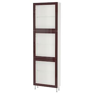 Colour: White glassvik/stallarp/dark red-brown clear glass.