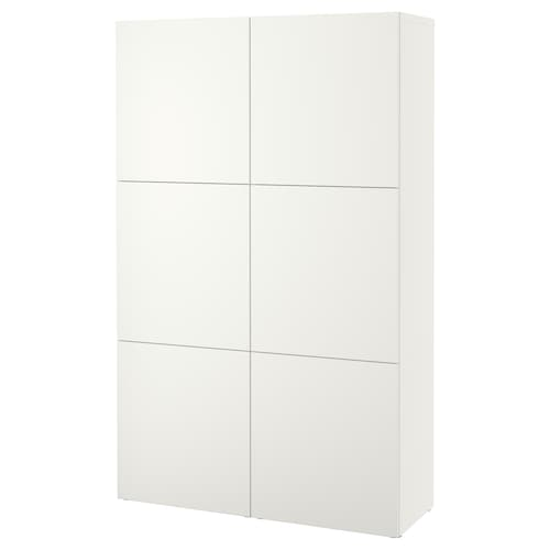 BESTÅ storage combination with doors Lappviken white 120 cm 40 cm 192 cm