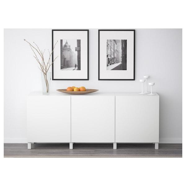 BESTÅ storage combination with doors Lappviken white 180 cm 40 cm 74 cm