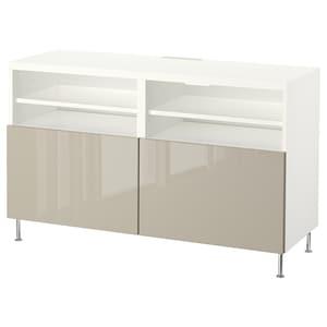 Colour: White/selsviken/stallarp high-gloss/beige.