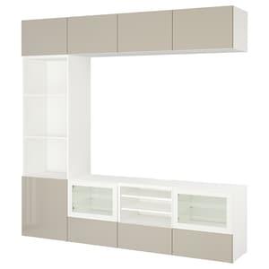 Colour: White/selsviken high-gloss/beige clear glass.