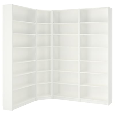 BILLY Bookcase, white, 215/135x28x237 cm