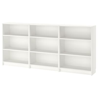 BILLY Bookcase, white, 240x28x106 cm