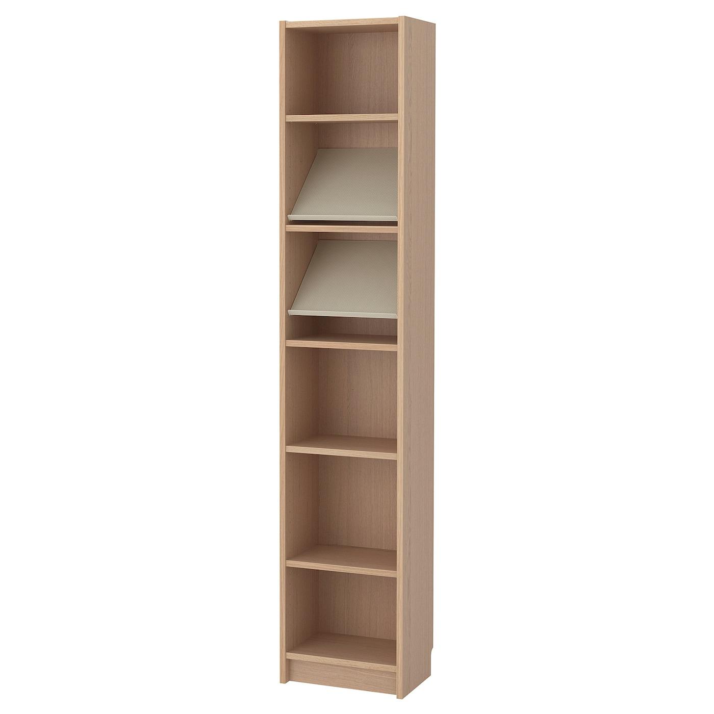 Billy Bottna Bookcase With Display Shelf Black Brown Beige