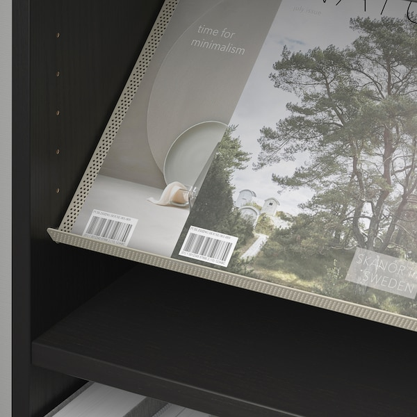 BILLY / BOTTNA bookcase with display shelf black-brown/beige 40 cm 28 cm 202 cm 14 kg