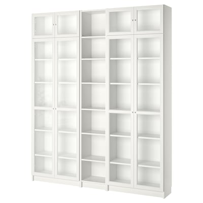 BILLY / OXBERG Bookcase, white, 200x30x237 cm