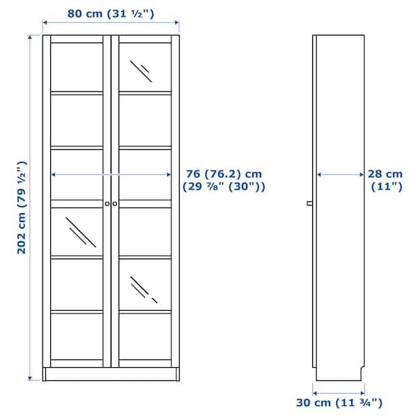 BILLY / OXBERG bookcase white 80 cm 30 cm 202 cm 30 kg