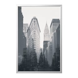 BJÖRKSTA picture with frame, New York City, aluminium-colour