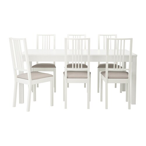 BJURSTA / BÖRJE Table and 6 chairs IKEA It's quick and easy to change the size of the table to suit your different needs.